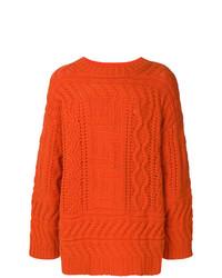 orange Strickpullover von Études