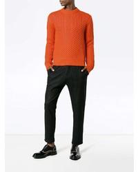 orange Strickpullover von Calvin Klein 205W39nyc