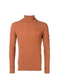 orange Strickpullover von Eleventy