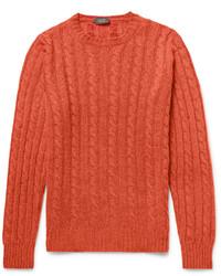 orange Strickpullover von Incotex