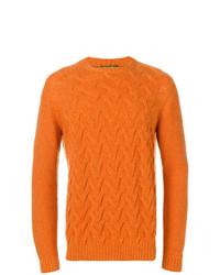 orange Strickpullover von Loro Piana