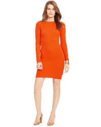 orange Sweatkleid