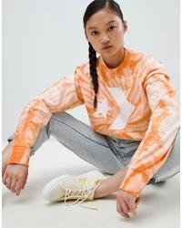 orange Mit Batikmuster Sweatshirt von Converse