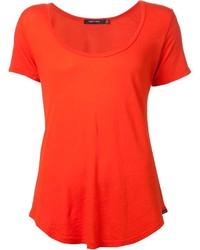 orange T-Shirt mit einem Rundhalsausschnitt