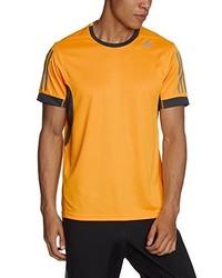 orange T-Shirt mit einem Rundhalsausschnitt von adidas