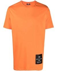 orange T-Shirt mit einem Rundhalsausschnitt von Karl Lagerfeld