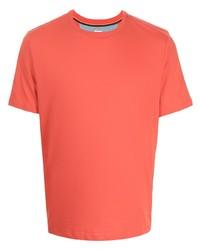 orange T-Shirt mit einem Rundhalsausschnitt von Paul Smith