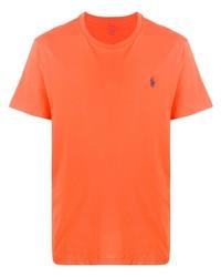 orange T-Shirt mit einem Rundhalsausschnitt von Ralph Lauren