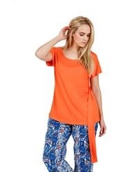 orange T-Shirt mit einem Rundhalsausschnitt von SHEEGOTIT