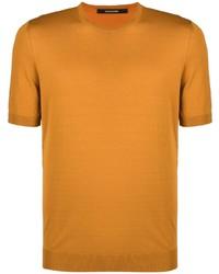 orange T-Shirt mit einem Rundhalsausschnitt von Tagliatore
