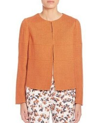 orange Tweed-Jacke