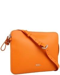 orange Umhängetasche