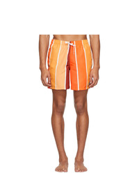 orange vertikal gestreifte Badeshorts von Bather