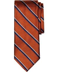orange vertikal gestreifte Krawatte