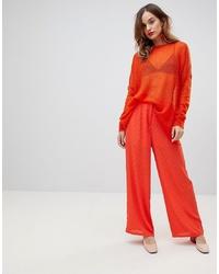 orange weite Hose von Y.a.s