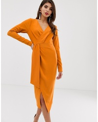 orange Wickelkleid von ASOS DESIGN