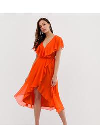 orange Wickelkleid von Asos Tall