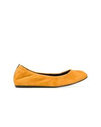 orange Wildleder Ballerinas von Lanvin