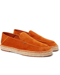 orange Wildleder Espadrilles von Loro Piana