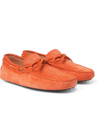 orange Wildleder Mokassins von Tod's
