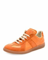 orange Wildleder niedrige Sneakers