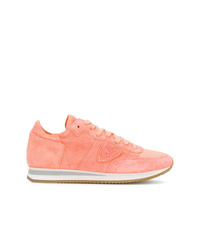 orange Wildleder niedrige Sneakers von Philippe Model