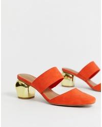 orange Wildleder Pantoletten von ASOS DESIGN