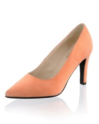 orange Wildleder Pumps von Alba Moda