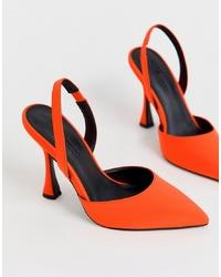 orange Wildleder Pumps von ASOS DESIGN