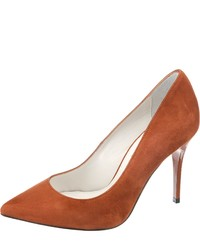 orange Wildleder Pumps von Buffalo