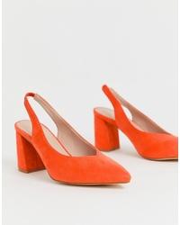 orange Wildleder Pumps von Glamorous