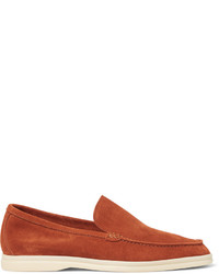 orange Wildleder Slipper