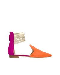 orange Wildleder Slipper von Benedetta Boroli