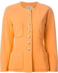 orange Wolljacke von Chanel