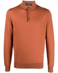 orange Wollpolo pullover von Ermenegildo Zegna