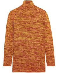 orange Wollrollkragenpullover von Miu Miu