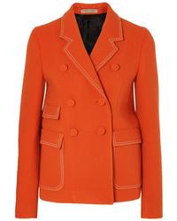 orange Wollzweireiher-sakko von Bottega Veneta