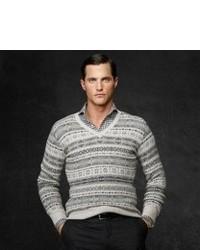 Pullover mit rundhalsausschnitt mit fair isle muster original 405755