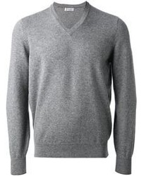 Pullover mit einem V-Ausschnitt