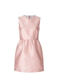 rosa ausgestelltes Kleid aus Satin
