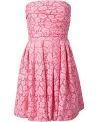 rosa ausgestelltes Kleid aus Spitze von Moschino Cheap & Chic