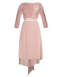Rosa Ausgestelltes Kleid aus Spitze von TFNC