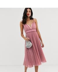 rosa ausgestelltes Kleid aus Tüll von Asos Tall