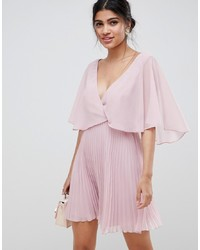 rosa ausgestelltes Kleid von ASOS DESIGN
