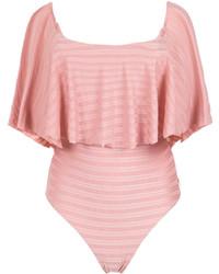 rosa Badeanzug mit Rüschen von BRIGITTE