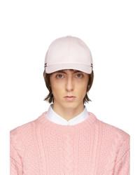 rosa Baseballkappe von Thom Browne