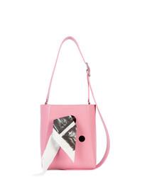 rosa bedruckte Leder Beuteltasche von Calvin Klein 205W39nyc