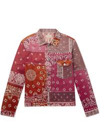 rosa bedruckte Shirtjacke von KAPITAL
