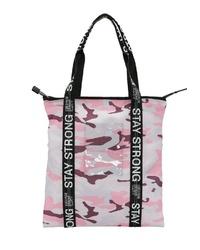 rosa bedruckte Shopper Tasche aus Segeltuch von George Gina & Lucy