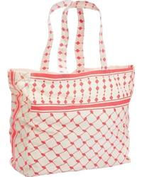 rosa bedruckte Shopper Tasche aus Segeltuch von Lascana